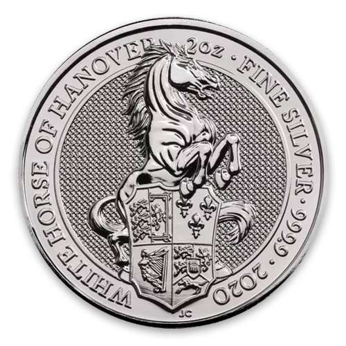 2020 2oz Silver Britain Queen's Beast: The White Horse of Hanover