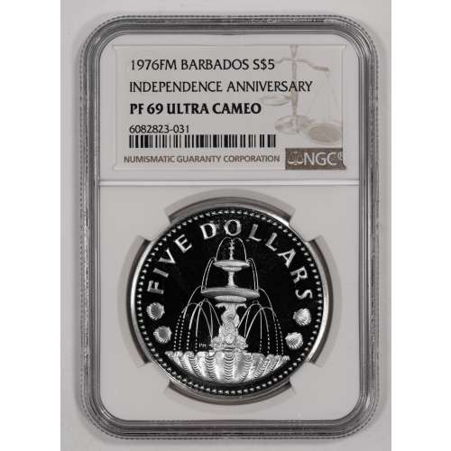 1976-FM INDEPENDENCE ANNIVERSARY ULTRA CAMEO NGC PF-69