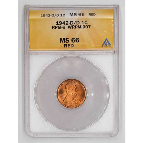 1942-D/D RPM-6 WRPM-007 RED ANACS MS-66