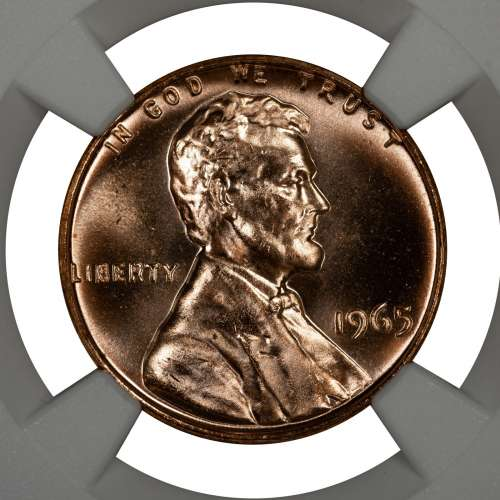1965 SMS LINCOLN MEMORIAL CENT PENNY 1C NGC CERTIFIED MS 67 RD