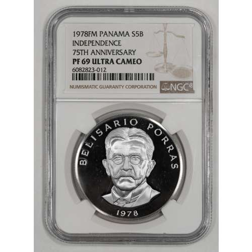 1978 INDEPENDENCE 75TH ANNIVERSARY ULTRA CAMEO NGC PF-69