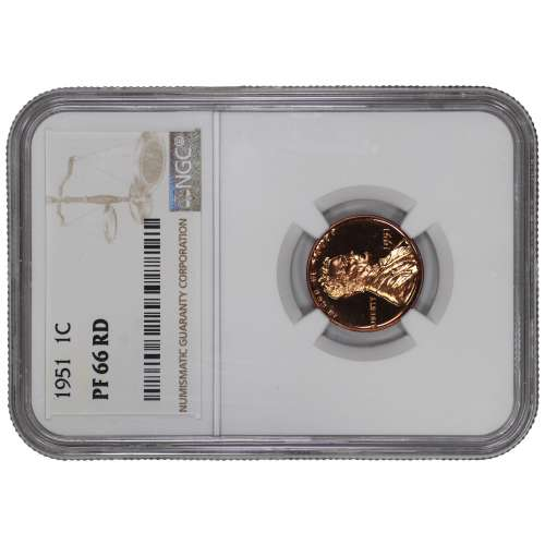1951 PROOF LINCOLN WHEAT CENT PENNY 1C NGC CERTIFIED PF 66 RD