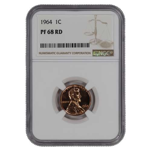 1964 PROOF LINCOLN MEMORIAL CENT PENNY 1C NGC CERTIFIED PF 68 RD