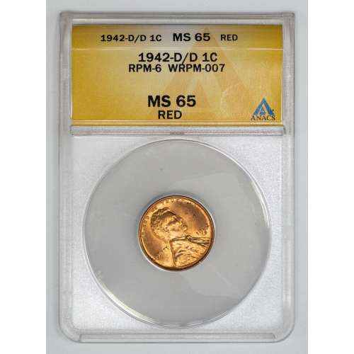 1942-D/D RPM-6 WRPM-007 RED ANACS MS-65