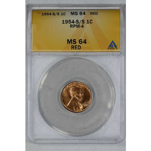 1954-S/S RPM-4 RED ANACS MS-64