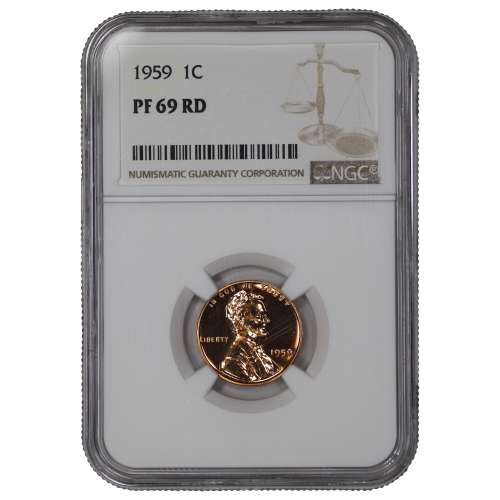 1959 PROOF LINCOLN MEMORIAL CENT PENNY 1C NGC CERTIFIED PF 69 RD
