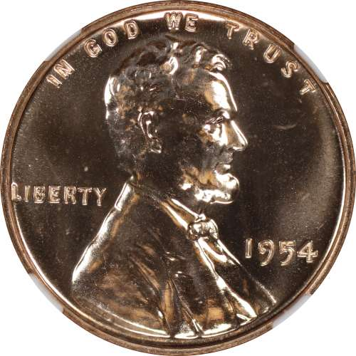 1954 PROOF LINCOLN WHEAT CENT PENNY 1C NGC CERTIFIED PF PR 67 RD SPOT HAZE FREE